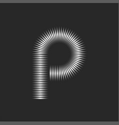 Letter p logo creative monogram linear minimal vector