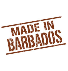 made in barbados stamp vector image