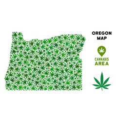Marijuana mosaic oregon state map vector