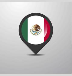 Mexico map pin vector