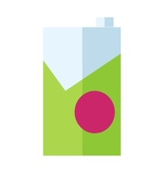 Milk or juice carton packages vector