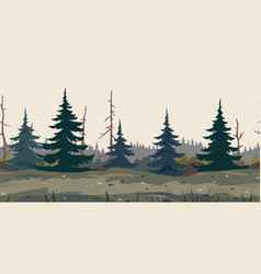mystical forest game background vector image