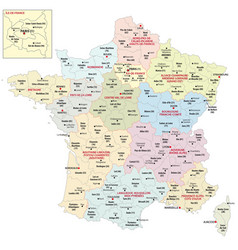 New regions france since 2016 vector