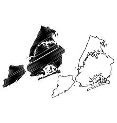 New york city map vector