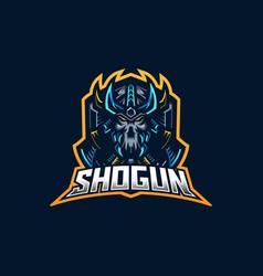 ninja esport gaming mascot logo template for vector image