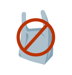 no plastic bag icon vector image