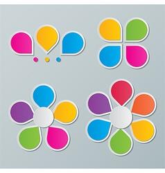paper flower infographics vector image