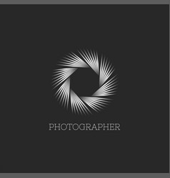photo studio or photographer logo abstract vector image