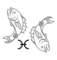 pisces zodiac horoscope astrology sign vector image