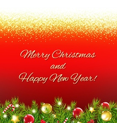 Red Christmas Card With Text vector image
