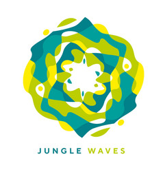 round jungle modern design element vector image