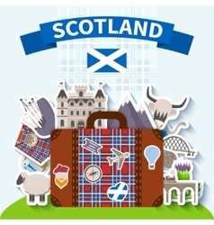 Scotland Travel Background vector