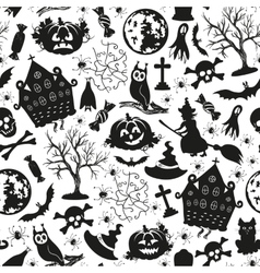 Seamless drawing icons for Halloween vector image