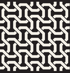 Seamless interlacing lines pattern simple vector