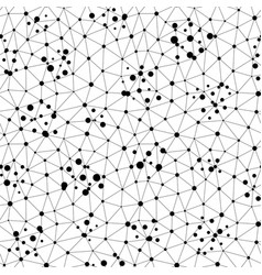 Seamless patternwith thin lines chaotic dots vector