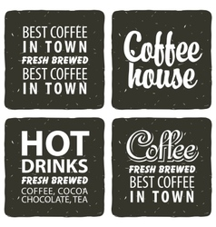 set for a cafe with hot drinks vector image