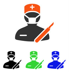 Surgeon flat icon vector