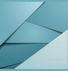 Unusual modern material design background vector