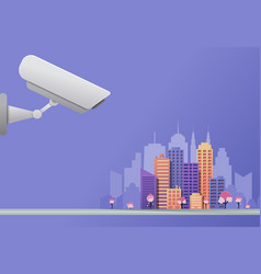 urban video surveillance system concept vector image