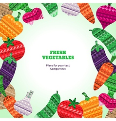 Vegetables Fresh frame vector image