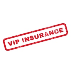 Vip Insurance Rubber Stamp vector