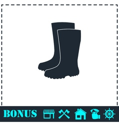 Waterproof shoes icon flat vector