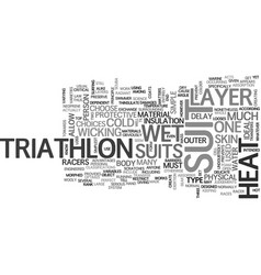 What you must know about triathlon suit text word vector