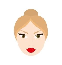 Woman head girl female person hair icon vector