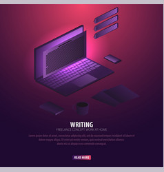 Writer can use for web banner or infographics vector