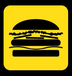 Yellow black information sign - hamburger icon vector