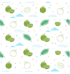 Young coconut seamless pattern background vector