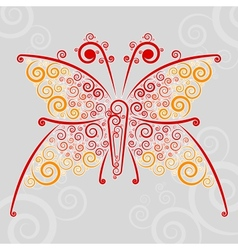 Abstract url techno-butterfly vector image
