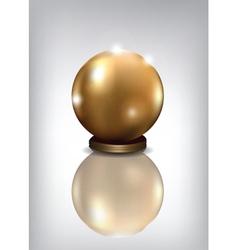golden sphere award vector image vector image