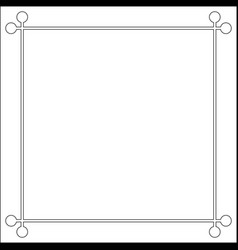 mid century 50s frame photo border vector image vector image