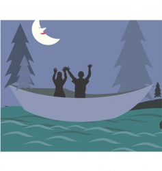 nighttime fishing vector image vector image