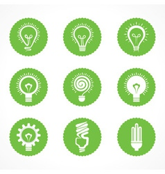 Set of electric bulb symbols and icons vector image vector image