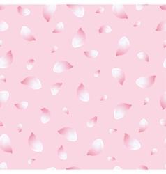 Spring seamless pattern pink with flowers sakura vector image