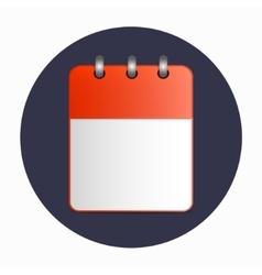 Blank sheet of desktop calendar red color vector image
