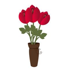 flower pot decorative icon vector image vector image