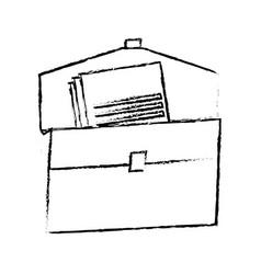 folder document paper office supplies elements vector image vector image