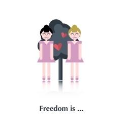 Lesbians icon vector image