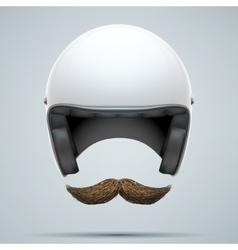 Motorcyclist symbol with mustache vector image vector image