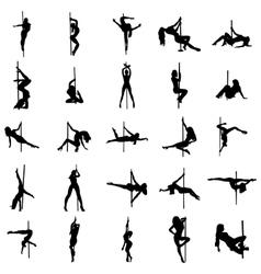 Stripper silhouette set vector