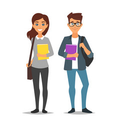 student man and woman vector image vector image
