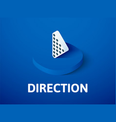 direction isometric icon isolated on color vector image