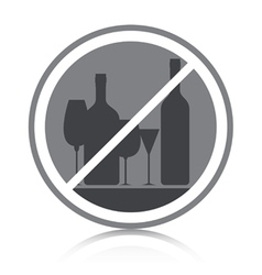 Do not drink alcohol vector image vector image