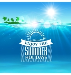 Enjoy summer holidays travel poster background vector image vector image