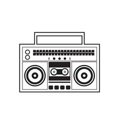 Ghetto Blaster Radio vector image vector image