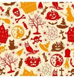 Seamless drawing icons for Halloween vector image vector image
