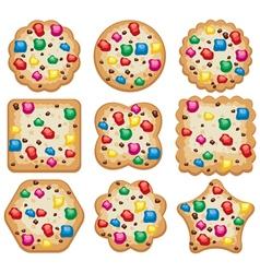 set of cookies vector image vector image